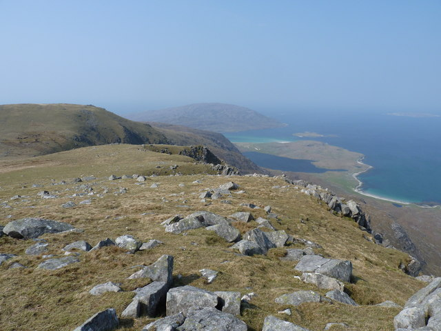 Looking from Huiseabhal towards Oireabhal with Scarp in the background
