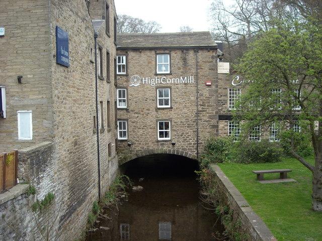 Waterway under the High Corn Mill, Skipton