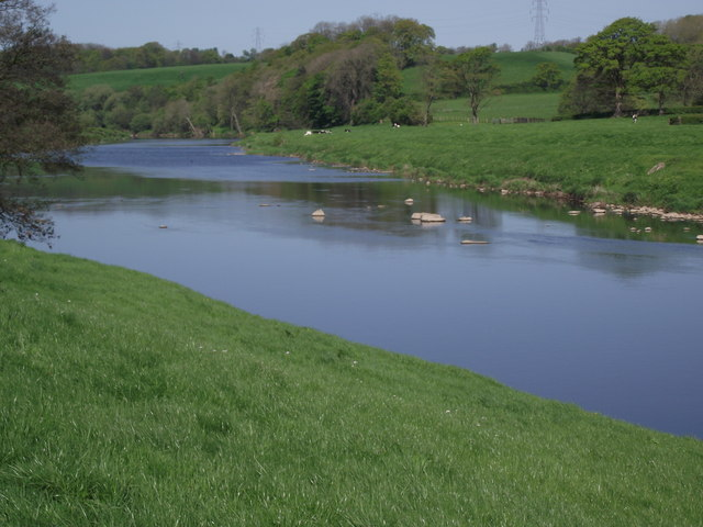 The River Ribble At Osbaldeston & 169 Philip Platt Cc By Sa 2