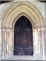 SK8753 : Door arch, All Saints Church by Miss Steel