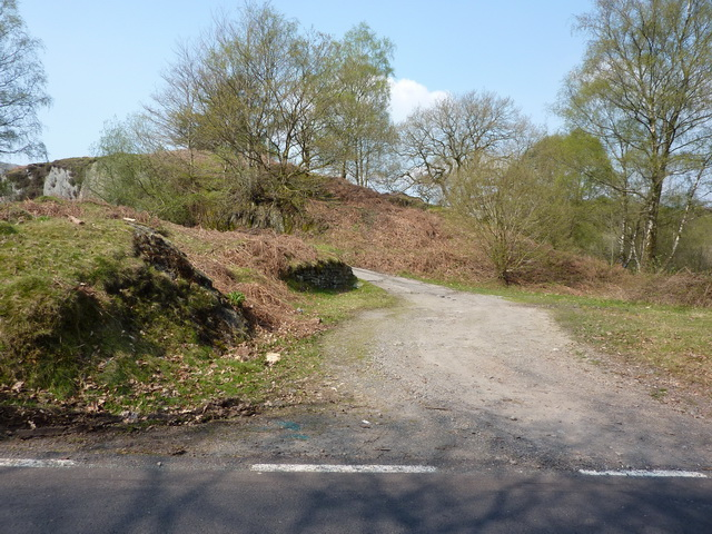 Track into disused quarry near Toad Rock