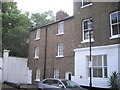 TQ2579 : Houses at end of Phillmore Walk, Kensington by PAUL FARMER