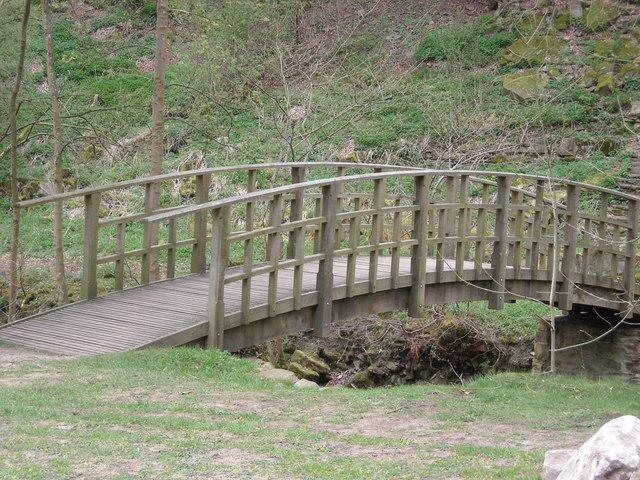 Footbridge at Hardraw Beck, Hawes