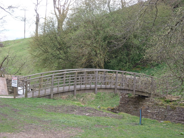 A second footbridge at Hardraw Beck, Hawes
