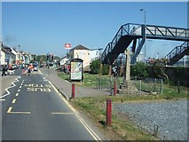 SX9781 : Starcross; war memorial and railway station by David Smith