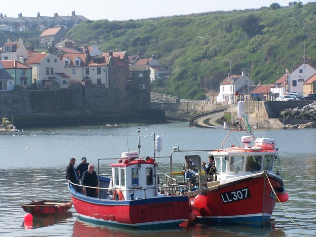 Fishing boats in Staithes Harbour