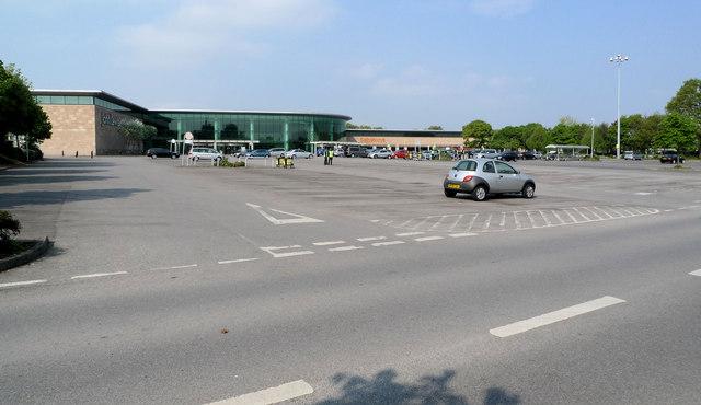 Sainsburys' carpark at Cheadle Royal