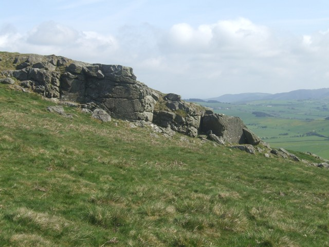 Rock outcrops on the edge of Corndon Hill