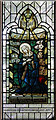 TQ3878 : Christ Church, Manchester Road, Isle of Dogs - Stained glass window by John Salmon