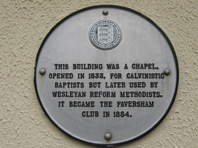 Plaque on Wall near Faversham Club
