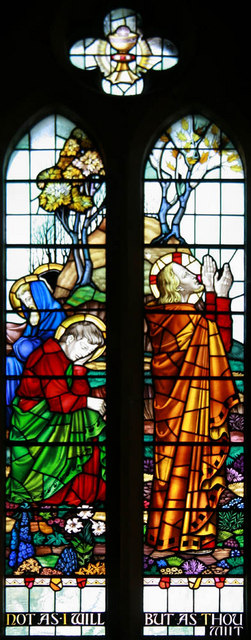 St John the Baptist, Parkhill Road, Bexley - Stained glass window