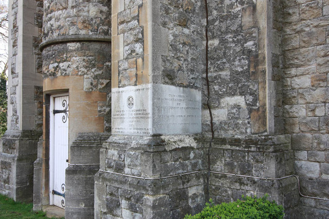 St John the Baptist, Parkhill Road, Bexley - Foundation stone