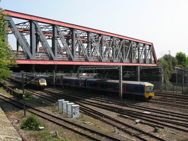 First Great Western trains near Old Oak Common