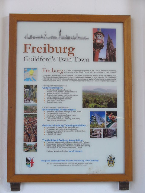 Freiburg, Guildford's Twin Town