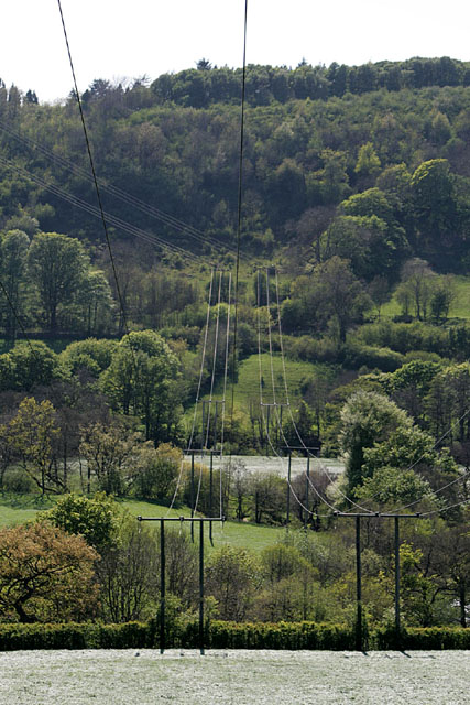 Power lines across the Derwent Valley