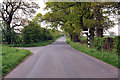 NY4148 : Road junction near Wreay by Steven Brown