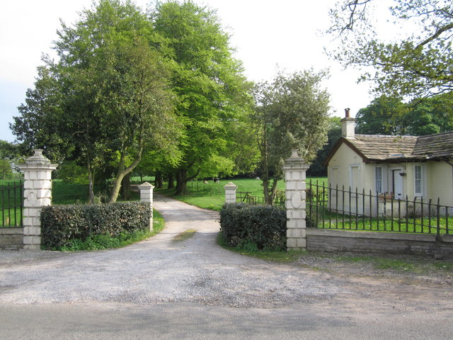 Gatehouse and entrance drive Thornycroft Hall