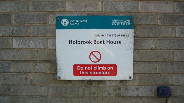 Holbrook Boat House Sign
