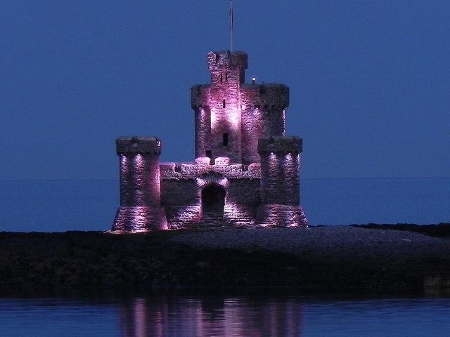 The Tower of Refuge Illuminated