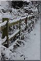SK4580 : Fence On Quarry Road by John Jennings