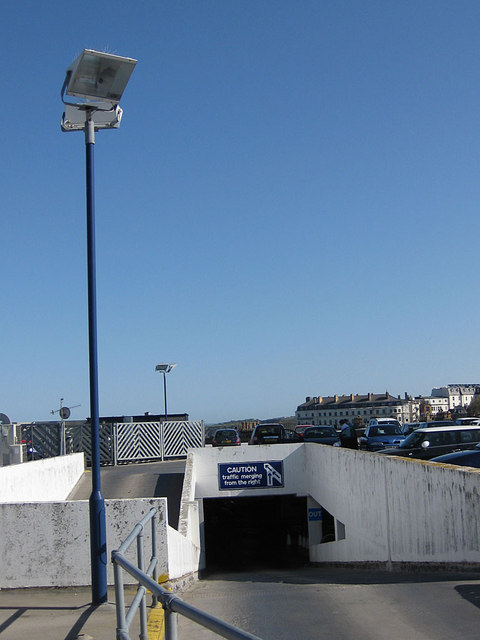 Exit ramp from rooftop car park
