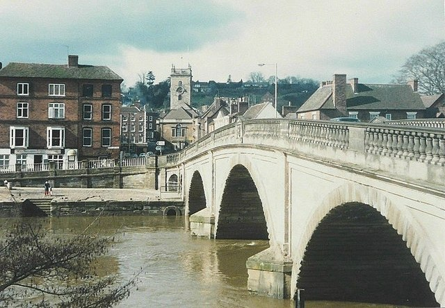 Bewdley Bridge in 1987