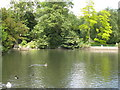 TQ3768 : The lake in Kelsey Park (3) by Mike Quinn