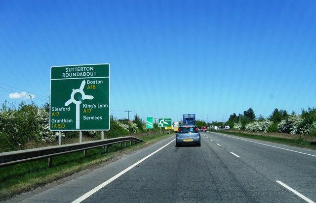 Sutterton Roundabout  A16, A17