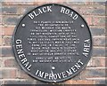 SJ9272 : Plaque, corner of Black Road, Macclesfield by Robin Stott