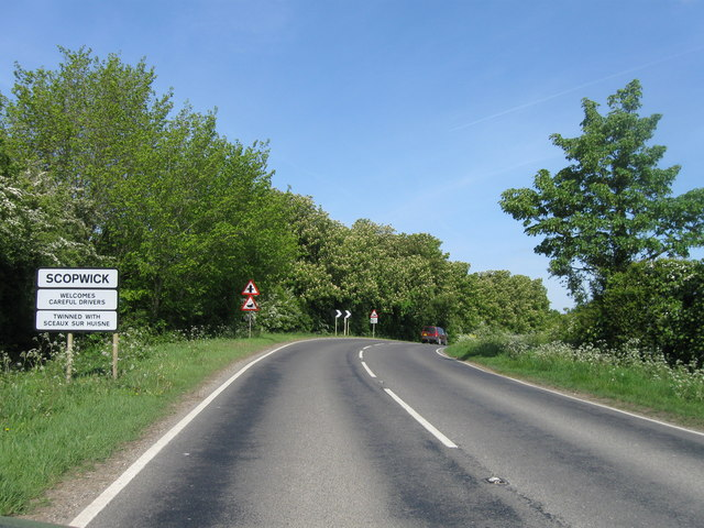 Scopwick, entrance sign