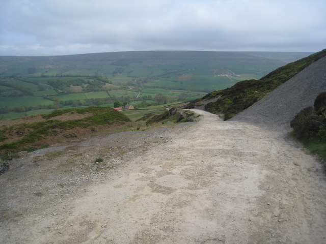 Looking down into Farndale from near Monket House Crags