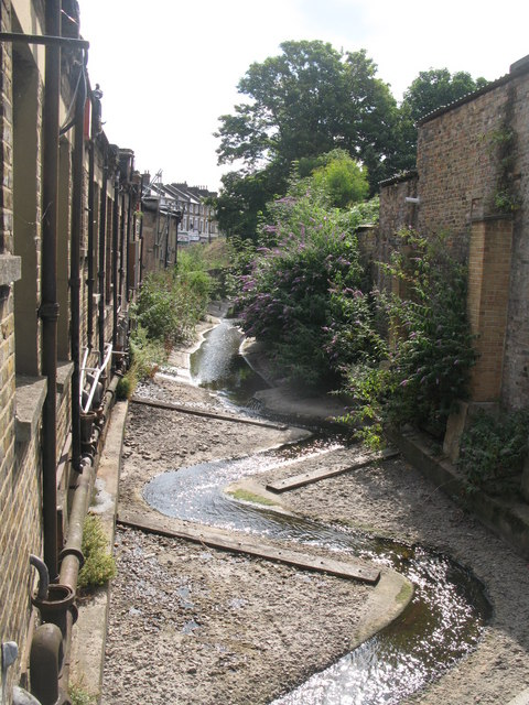The Quaggy River east of Clarendon Road, SE13