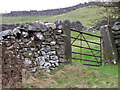 SE0698 : Gate and drystone walls, Reels Head by Miss Steel