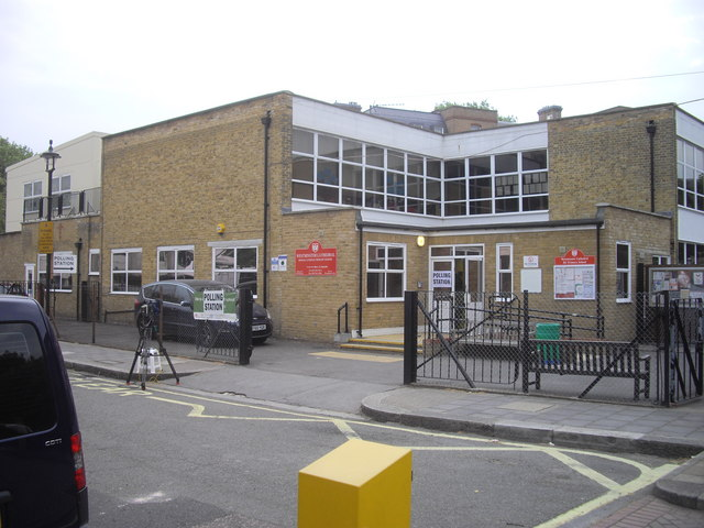 Polling Station in School in Bessborough Place , Pimlico
