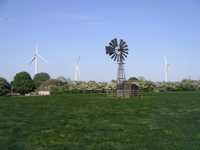 Wind pump at Cotes-de-Val, Lutterworth