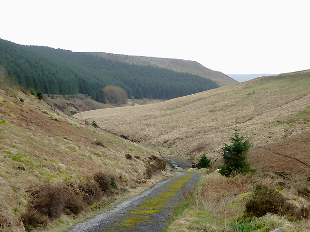 Private road near Soar-y-Mynydd, Ceredigion