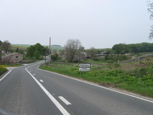 Pikehall, entrance sign