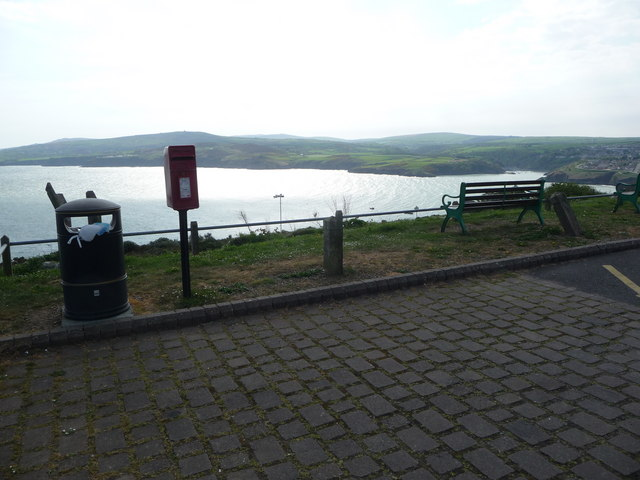 Near the viewpoint overlooking Fishguard Harbour