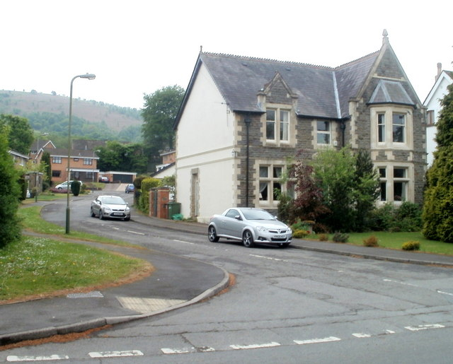 House on the corner of St Martin's Road and Clos Glan Nant, Caerphillly