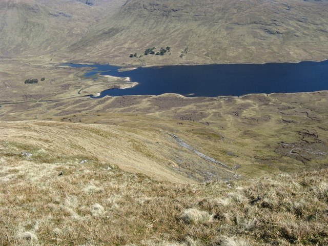 Above western end of Loch Fannich