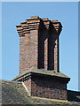 SO8688 : Chimney stacks on Ashwood Lodge near Kingswinford, Staffordshire by Roger  Kidd