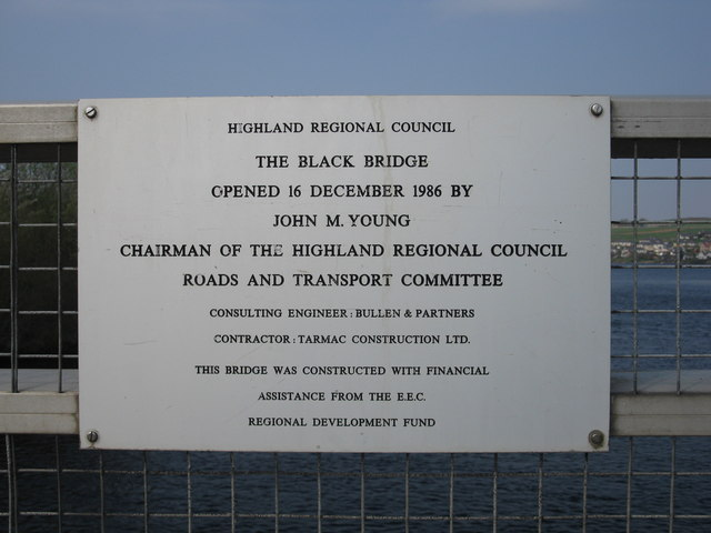 The Black Bridge Lairg Opening plaque