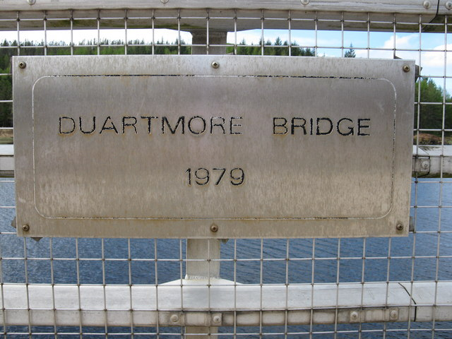 Duartmore Bridge Plaque