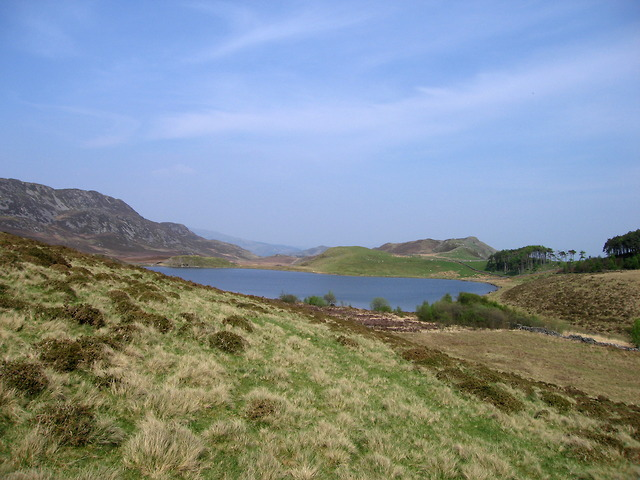 The smaller of the Llynnau Cregennen