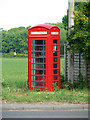 TM1899 : K6 telephone box in Bracon Ash by Evelyn Simak