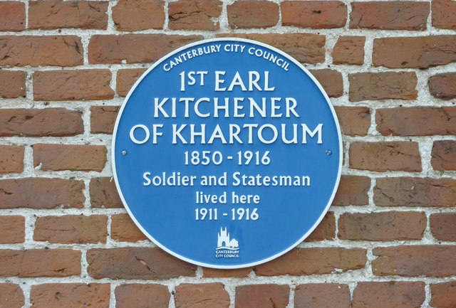 Photo of Horatio Kitchener blue plaque