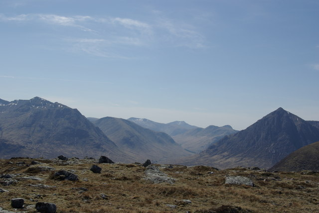 View from Meall Bhalach SE top