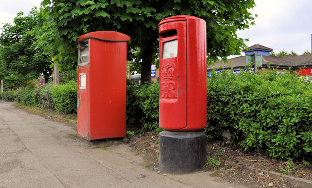 Pillar box and metered-mail box, Belfast