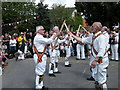 TL5666 : Morris dancing at Reach Fair 2011 by Keith Edkins