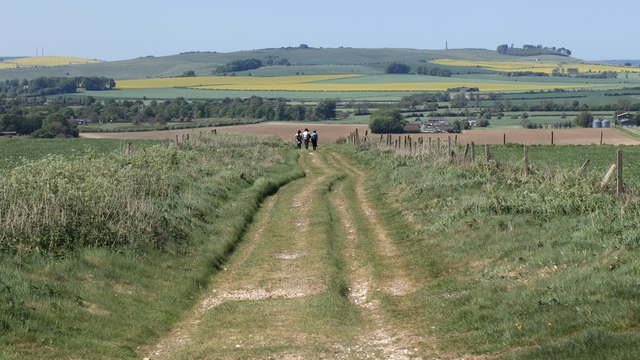 View along the Wessex Ridgeway